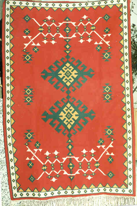100 Wool Hand Woven 1 80meters X 2 40meters 5 11 X 7 10